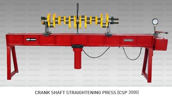 CRANK SHAFT STRAITENING