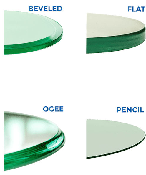 Shaped Glass Edging