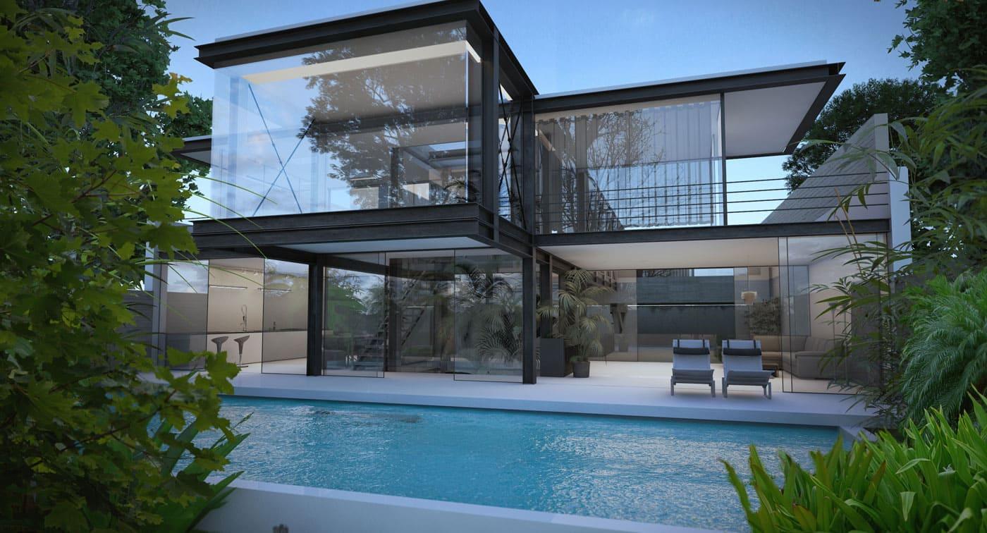 Glass Villa Fronts